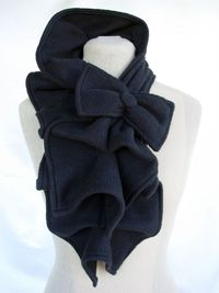 Ruffled Bow Scarf - SO CUTE!