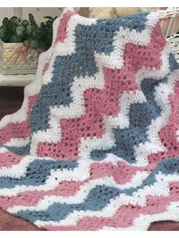Baby's Quick Ripple Crochet Afghan Pattern