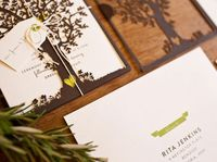 Nature-Inspired Laser Cut Wedding Invitations by Saint Gertrude Design via Oh So Beautiful Paper (1)