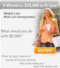 NutriSystem $25000 Weight Loss Wish List Sweepstakes!