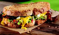 Laura Werlin's Chips & #Guacamole Grilled #Cheese. Wow.