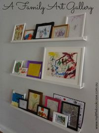 Children's Art Gallery by My Little Bookcase...so sweet and yet practical too!
