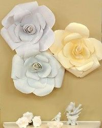 Create beautiful, larger-than-life roses using painted paper
