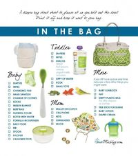 Printable diaper bag checklist. Handy to keep near the diaper bag.