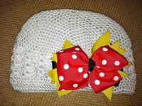 FREE SHIPPING Crochet Hat with Bow by bellajackets on Etsy