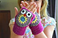 owl mittens -- pattern released 4/19/13 ~ free pattern