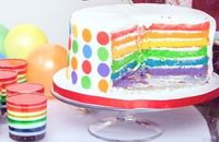 Love the blast of color! #cake #birthday #party