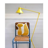 "Hand Screenprinted Cat Pillow in Mustard Yellow �€"" Robin And Mould"
