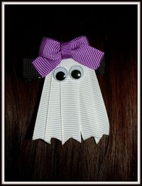 Halloween Ghost Ribbon Sculpture Hair Clip