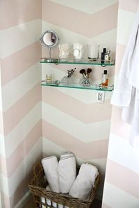 pink chevron walls
