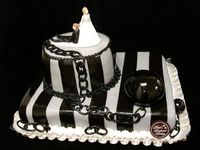 Ball and Chain Groom's Cake
