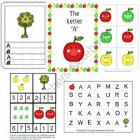 Apple Preschool Lesson Pack from Homegrown Love 101 on TeachersNotebook.com (10 pages)
