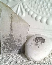 transferring images onto marble or rocks