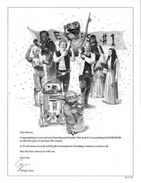 30 years ago today Variety magazine posted a full page ad from George Lucas congratulating his pal Steven Speilberg for surpassing Star Wars at the box office with E.T. The Extraterrestrial. Many years later, after both films had been rereleased theatrica...