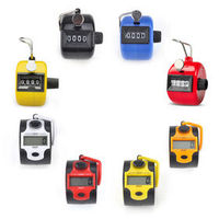 GOGO Hand Tally Counter, Manual & Digital Tally Counter Clicker, Assorted Colors, Price/8 pcs