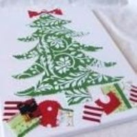 fabric canvas christmas art