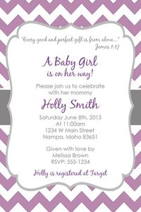 Purple & Grey Baby Shower Invitation!!