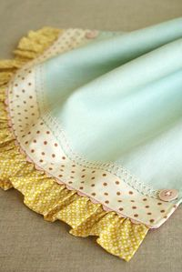 �™� a beautiful way to finish a baby blanket