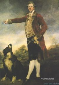 John Campbell, 1st Lord Cawdor, by Sir Joshua Reynolds, 1778. How can you not love an 18th c Scottish lord who has himself painted with his hair blowing in the wind, wearing a leopard-spot vest & fur-lined coat?