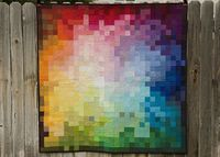 Pixelated Color Wheel Quilt by from the blue chair, via Flickr