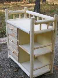 Log Baby Changing Table (Shelf)