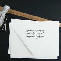 custom rubber address stamp
