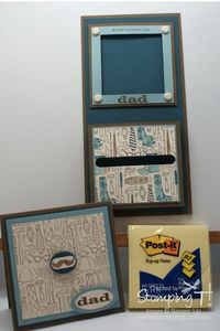 Stampin T! - Magnetic Pop up Post-it Note Holder
