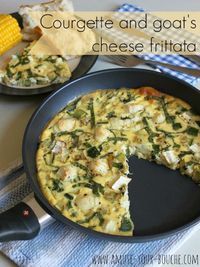 Courgette and goat's cheese frittata (plus a Swiss Diamond frying pan giveaway worth £69!)
