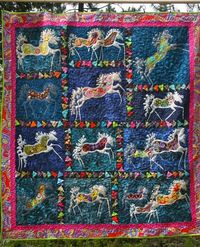 Sky Horses Quilt by Sherry at adventures in life blog