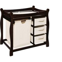 Espresso changing table