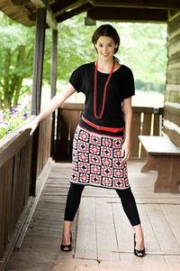 Granny square graphic skirt by Kika Tikka, via Flickr