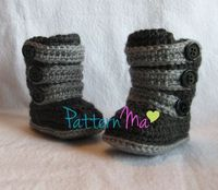 Crochet Baby Boot Pattern Strappy Ugg