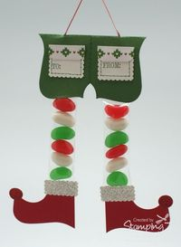Stampin' Up! Christmas Top Note by Tanya Bell at Stamping T! - Jelly Bean Elf Legs
