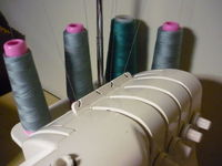 Matching overlocker thread to fabric