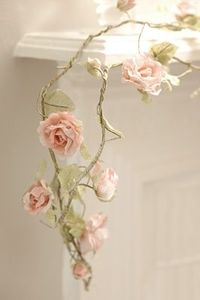 Paper flower garland...so pretty!