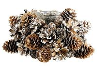 Pinecone Votive Holder, Small on One remember to make for holidays add red berrys or red ribbon