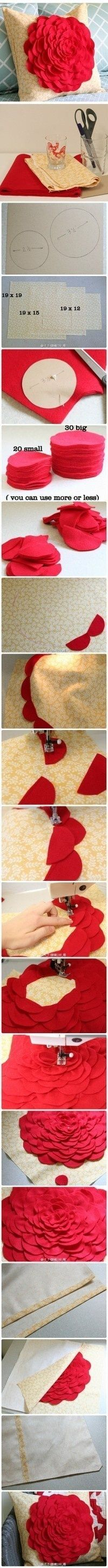 Make a flower pillowcase - Click image to find more DIY & Crafts Pinterest pins