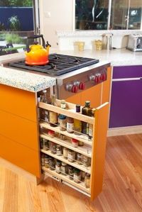 Love the pull out spice drawer for the kitchen
