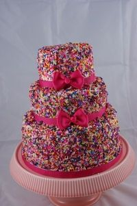 Sprinkles Birthday Cake! Great for a girls birthday!