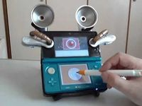 Nintendo 3DS with awesome steampunk speakers