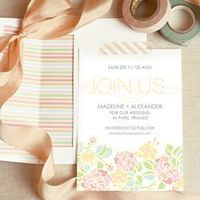 Free DIY Save the Date Template with matching envelope liner!