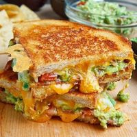 Skinny grilled guac & cheese sandwich