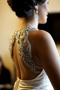 Beaded dress-back
