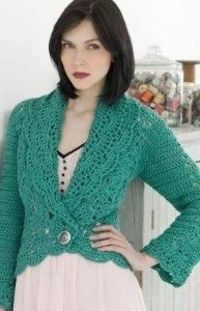 Mermaid Filigree Cardigan | AllFreeCrochet.com