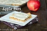Apple Bars by Dinners, Dishes and Desserts - bakedbyrachel.com