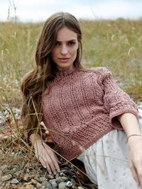 Knit this womens lace sweater from Summer Textures, a design by Sarah Hatton using the superb yarn Savannah (cotton and silk). With ¾ length shallow set-in sleeves, slash neckline and elegant lace stitch pattern, this knitting pattern is for the ...