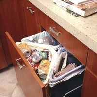 Trash and Recycling. Using every inch in the cabinet.