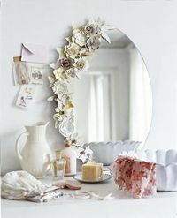 Paper flowers mirrored - twice the flower.