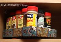 DIY spice rack made from an iPad box