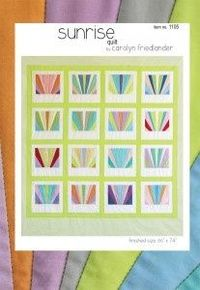 sunrise quilt pattern carolyn friedlander